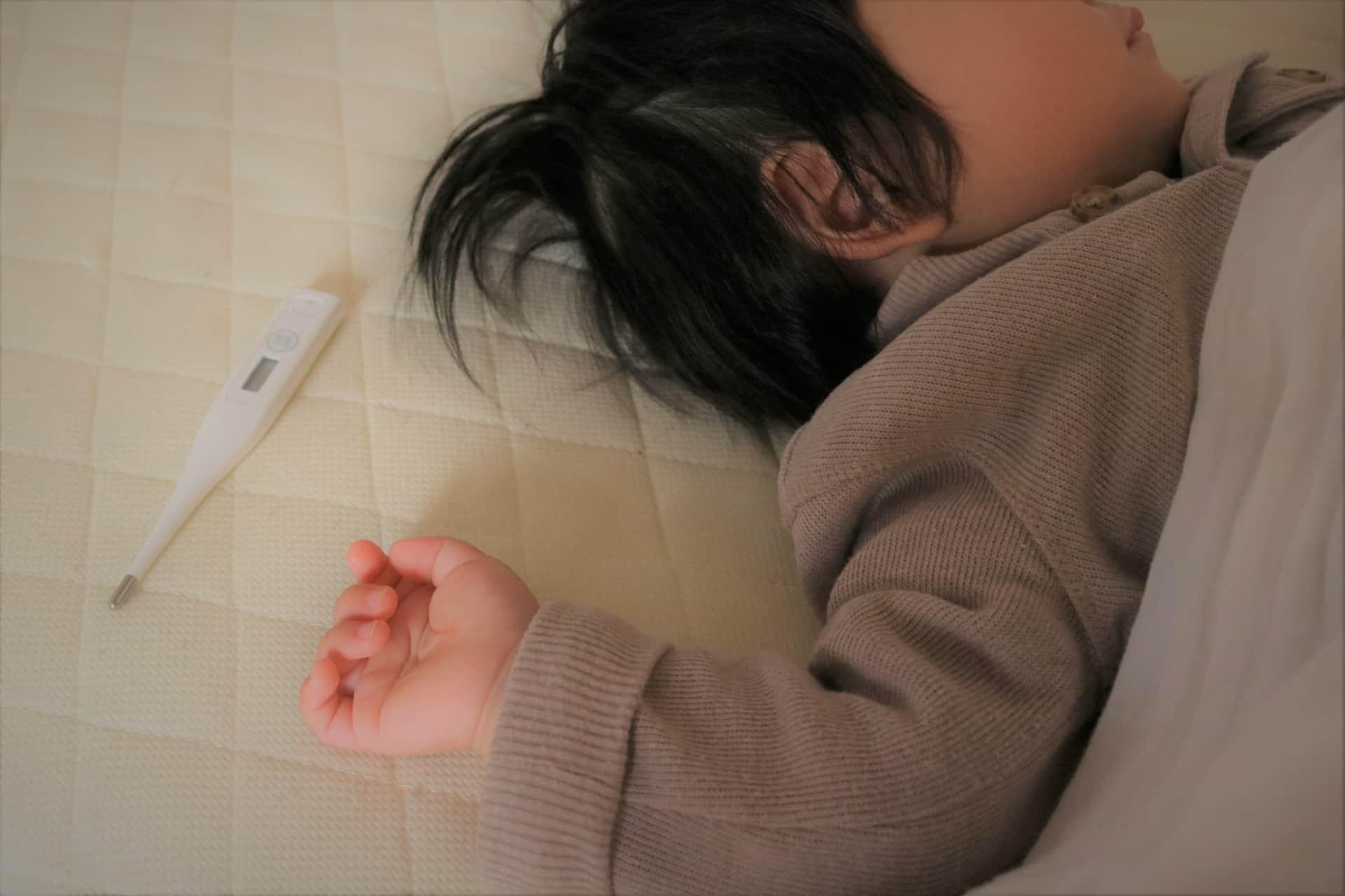 子供と体温計