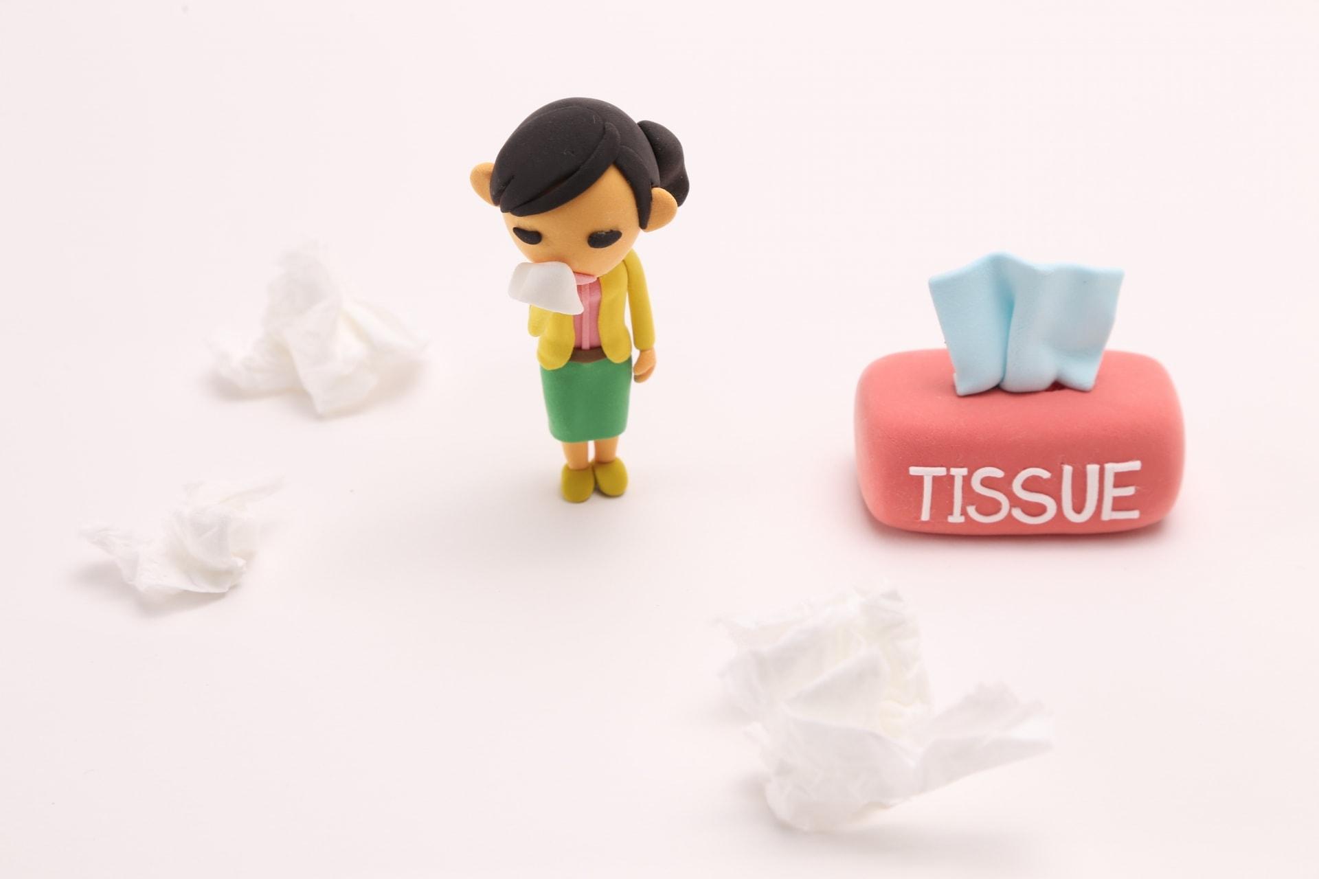 花粉症と鼻水