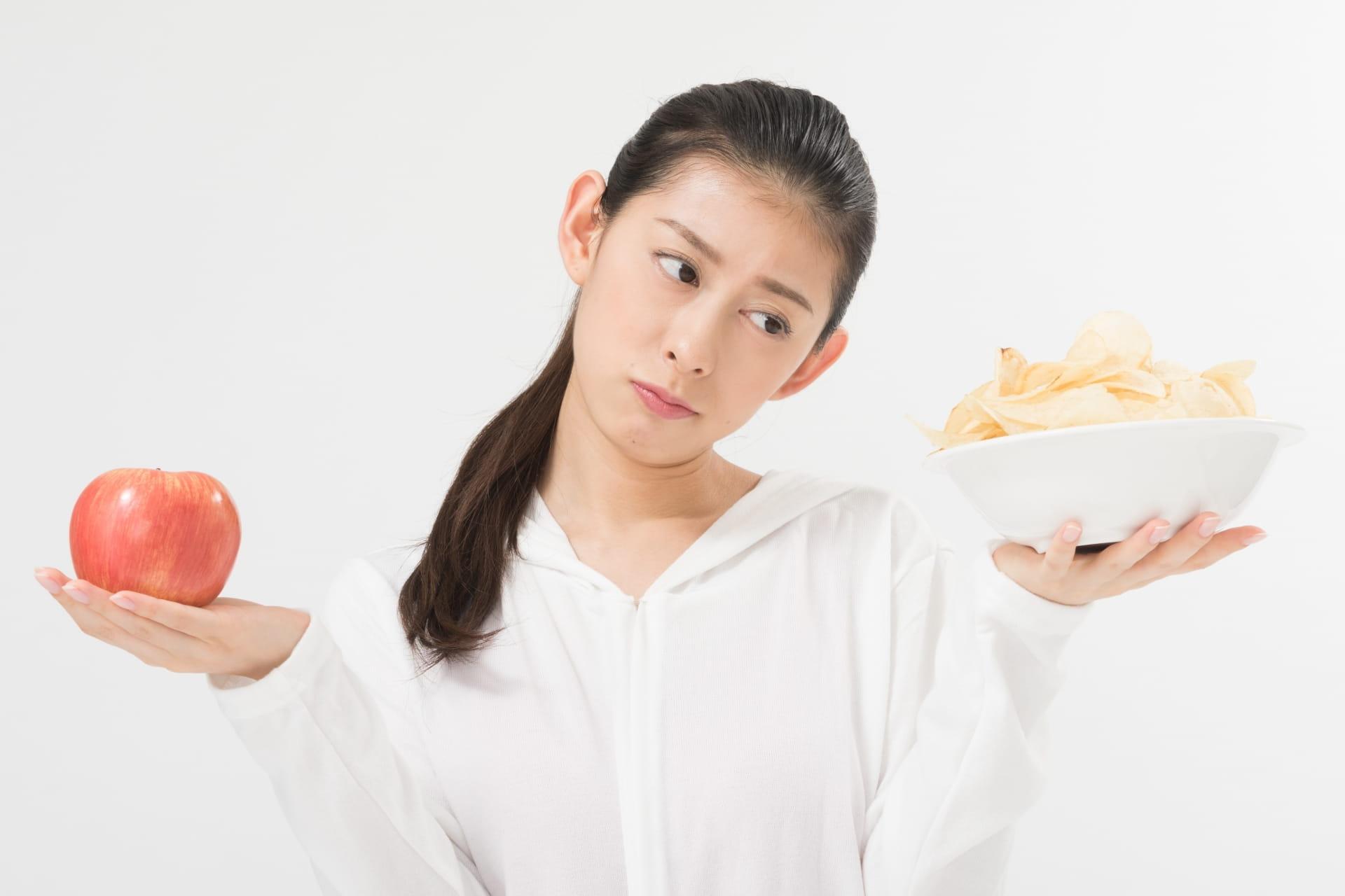 食べ物と女性