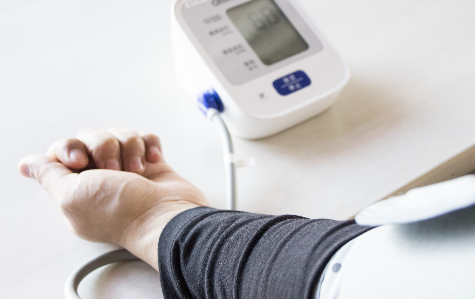 血圧測定の様子