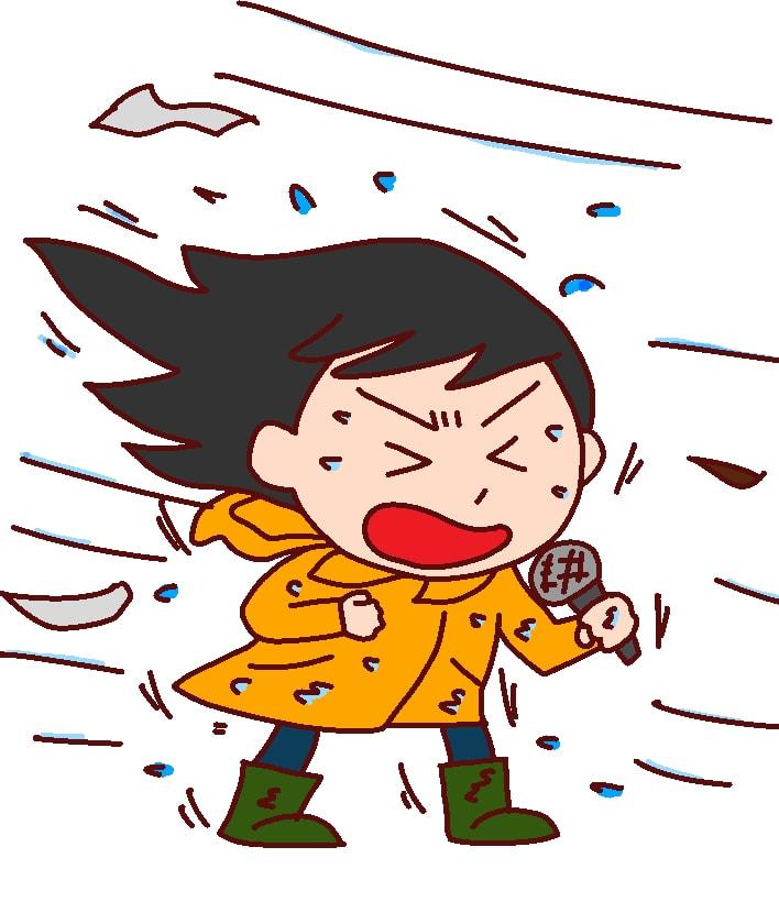 低気圧でくも膜下出血するなら、台風中継する女子アナなんていない